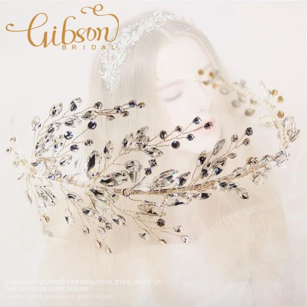 Бесплатная доставка свадебное платье аксессуары горный хрусталь стиль свадебный Hairband Heapieces