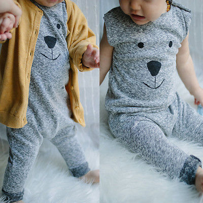Newborn Winter Rompers 2016 Cute Toddler Baby Girl Boy Bear Jumpers Rompers Playsuit Outfits Clothes 0-24M(China (Mainland))