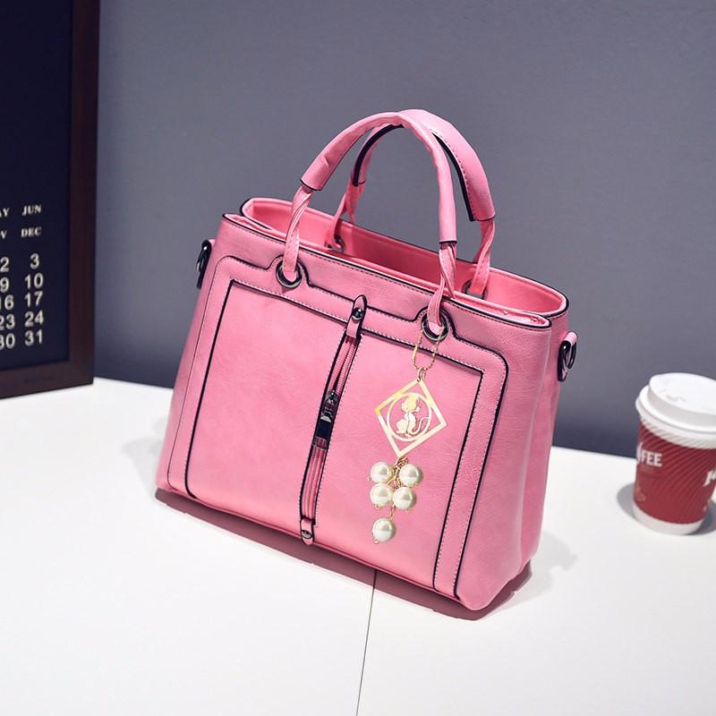 Trendy Front Center Zipper Ornament Women Handbag Gorgeous Classy Large Hand Bag Ladies Stylish Casual PU Zipper Shoulder Bag