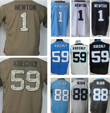 Free shipping men's jersey,Elite 1 Newton 13 Benjamin 88 Olsen 59 Kuechly Jerseys,Size M-XXXL,Best Quality,Authentic Jersey(China (Mainland))