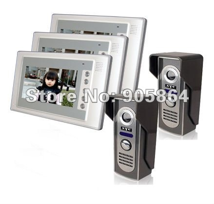 7 Full Color Video  Door Phone Monitor Security Kit (2 to 3)