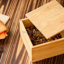 Bamboo Storage Box Bin