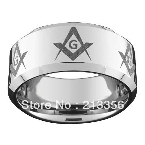 Freemason Rings Tungsten Tungsten Freemason Wedding