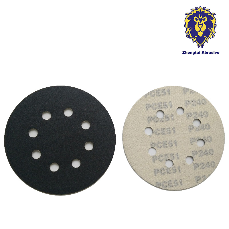 """7"""" Sandpaper Sanding Paper for Rotary Sander Velcro Grits 60/ 80/ 120/ 180 Power Tools Accessories 20pcs/set Free shipping(China (Mainland))"""