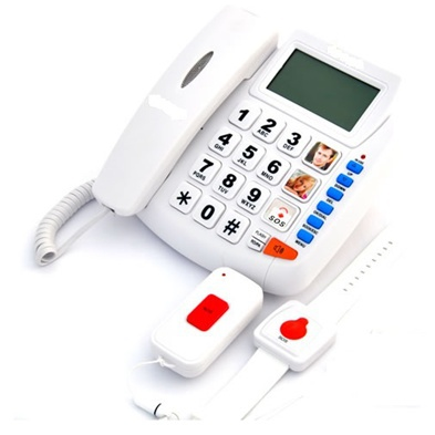 10 emergency number medical alert system SOS watch phone with remote controller(China (Mainland))