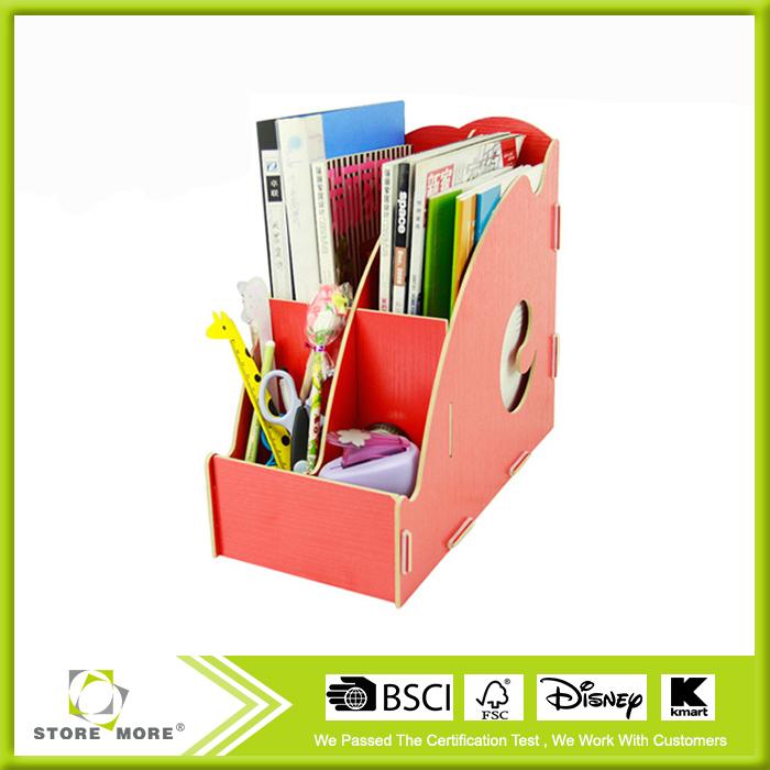 DIY Wooden Magazine Rack Shelf Desktop File Holder Information Office Stationery Storage Box(China (Mainland))