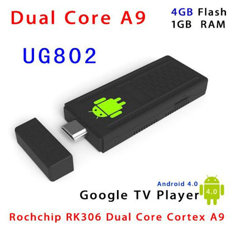 2015 new dual core 1.6 Ghz CPU RK3066 UG802 android 4.0 Mini PC smart TV box HDMI 1080P dongle Free Shipping(China (Mainland))