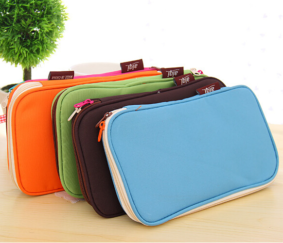 Korean Style Candy Color Brief Canvas Pencil Case Multifunction Stationery Storage Organizer Bag School Supply Escolar Papelaria<br><br>Aliexpress