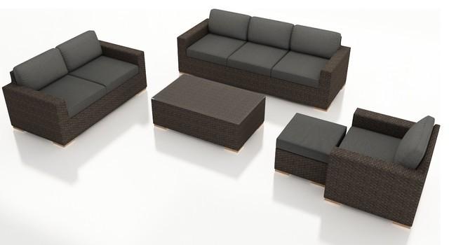 2015 Fancy Garden Sofa Furniture Outdoor Wicker Rattan Sofa Set(China (Mainland))