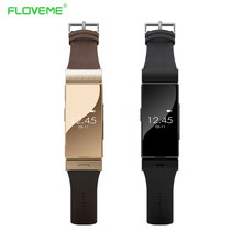 Floveme A5 Smart Leather Bracelet Watch + Earphone Heart Rate Monitor Bluetooth Wristwatch For iPhone Samsung Wearable Devices(China (Mainland))