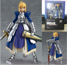 Anime Fate stay night Figma227 Zero Saber Knight Girl Arthur 15cm PVC Action Figure Toys Collection Model Gifts with retail box