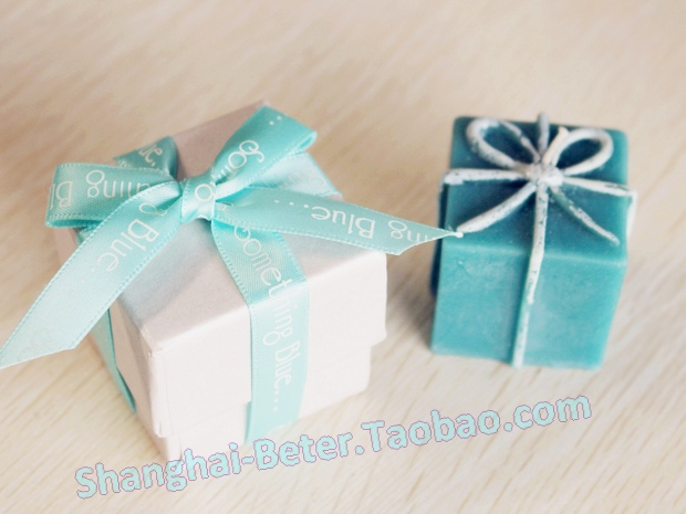 product Aqua blue Gift Box Candle Wedding party event decoration Wedding Favours LZ028/A