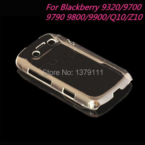 Free shipping cell Phone Back Case For Blackberry 9320/9700/9790/9800/9900/Z10/Q10 Ultra Thin Transparent Crystal PC cover shell(China (Mainland))