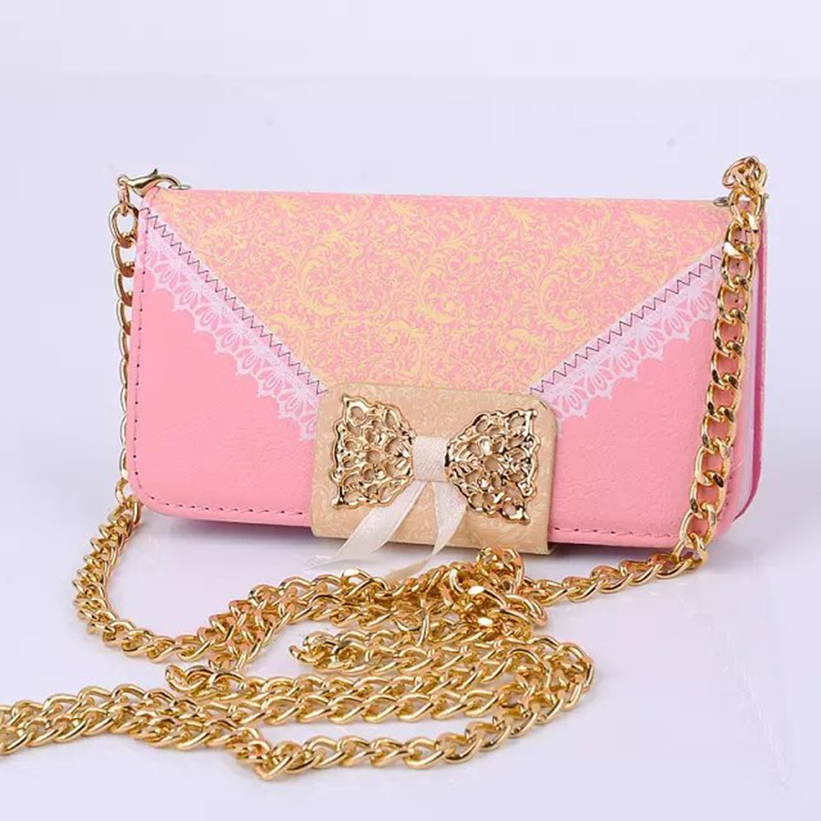 5G Luxury Lace Print Bowknot Girl PU Leather Case For iPhone 5S 5G Phone Cover Wallet Card Holder Side Flip stand Photo Window(China (Mainland))