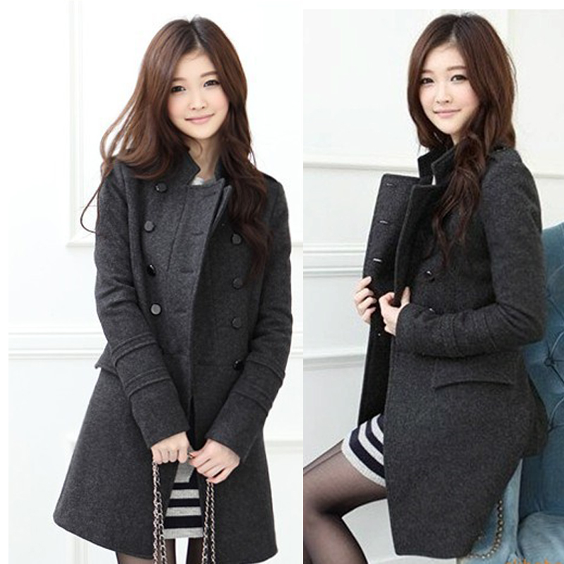 New 2015 Autumn Winter Fashion brand women coat Slim Woolen Coat wool coat women Jacket casacos femininos strench(China (Mainland))