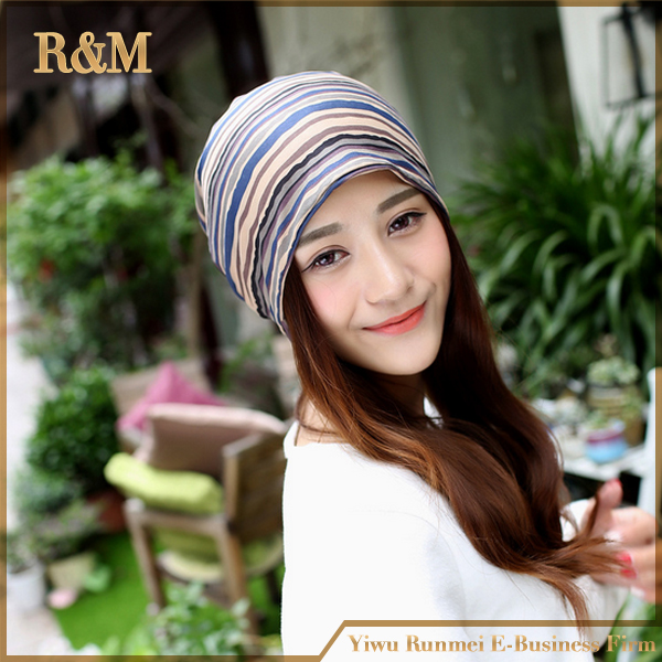 Womens Fall Fashion Ladies Hats for Women Cap with Striped Cotton Winter Gorros Beanie Hip Hop Hat Female(China (Mainland))