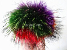 Big genuine fur pom pom balls for knitted hat & beanie & clothes hair accessories for women young girls real raccoon fur ball(China (Mainland))