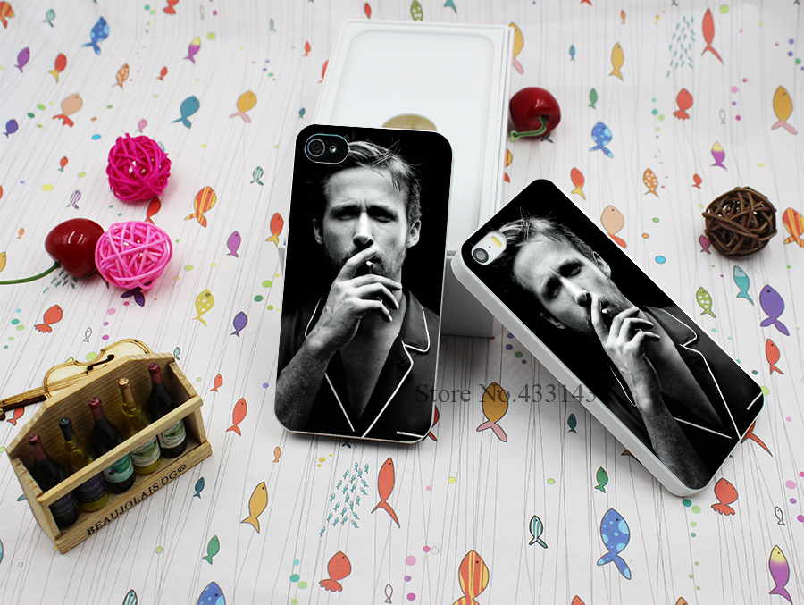 Hard White Case Cover for iPhone 4 4s Laser Technology Ryan Gosling Style(China (Mainland))