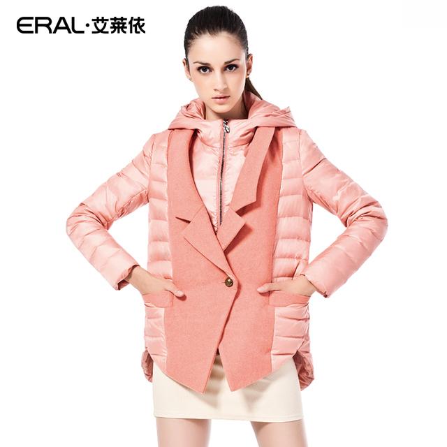 ERAL 2015 Winter Coat Женщины's Slim Medium-Длинный Thick Закрытый Down Jacket ...