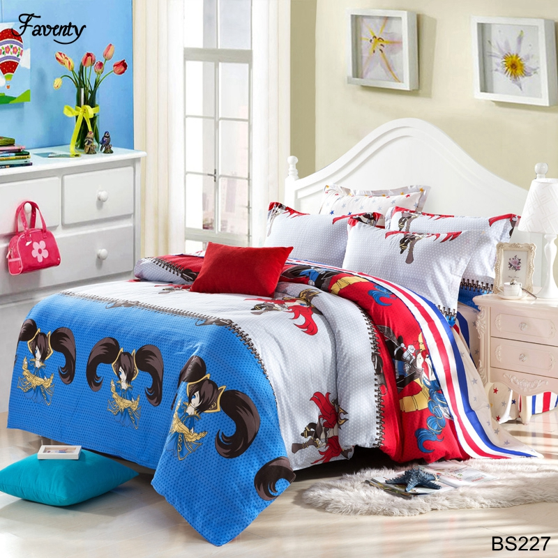 cool bedding sets Kids cartoon english european style Duvet Cover set boys sport bed linens(China (Mainland))