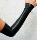 Cool BJD Black Leather Sleeve for 1/3,SD17,Uncle, IP EID Woman  Doll Clothes  Accessories