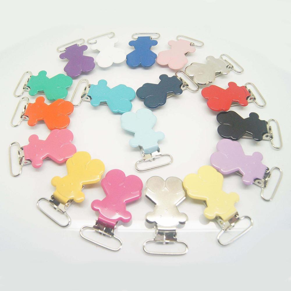 Здесь можно купить  Free shipping 300pcs/lot bear suspender clip in colored mixed color 25mm ribbon wholesale Suspender Clip Supplier &Manufacturer  Аппаратные средства