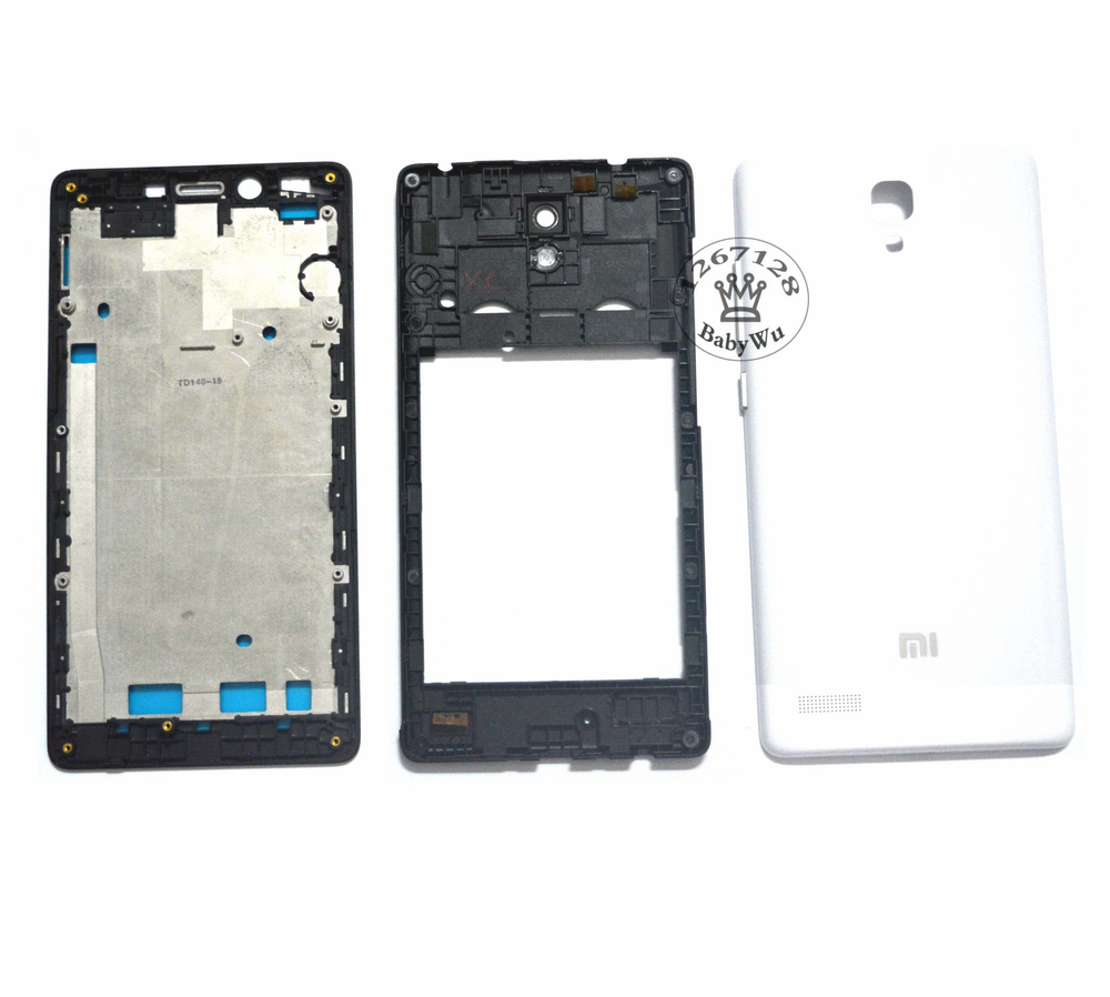 For xiaomi Redmi Note Original Middle Frame Front Bezel Housing Replacement Parts Battery Cover Full Housing