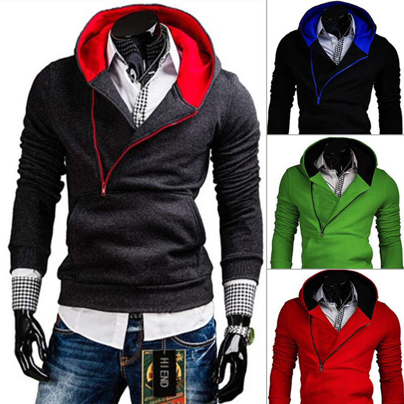 2015 fashion brand hot selling spring Long sleeve hoodies Slim fit zipper solid mens Casual dress PW68 - Be Top Trading Co,.Ltd store