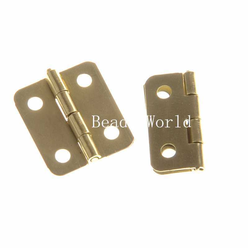 50 Gold Plated Door Butt Hinges 4 Holes (rotated from 0 to 270 degrees) 19x16mm(W04379 X 1)(China (Mainland))