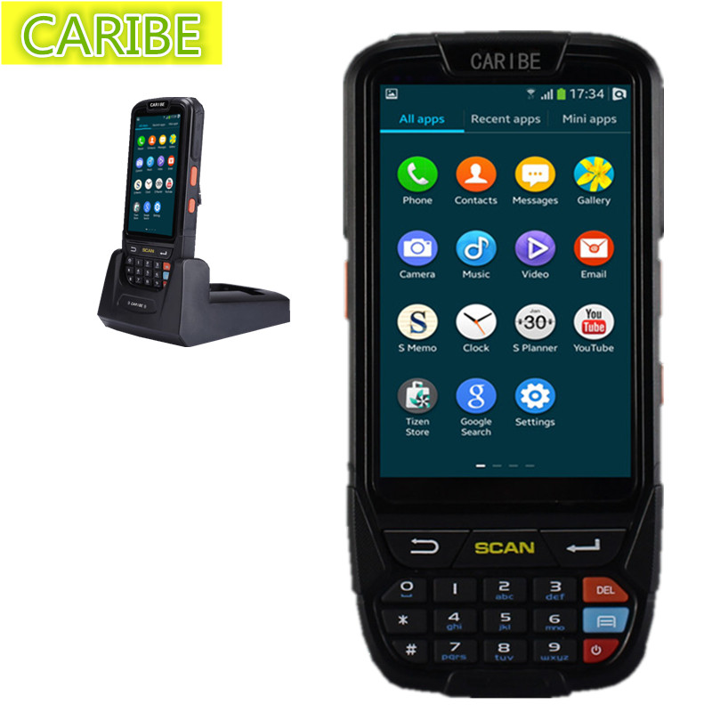 """Caribe PL-40LAa036 Strong 4""""big screen WIFI long range android OS 4G handheld PDA with honeywell 2d scanner GPS input(China (Mainland))"""