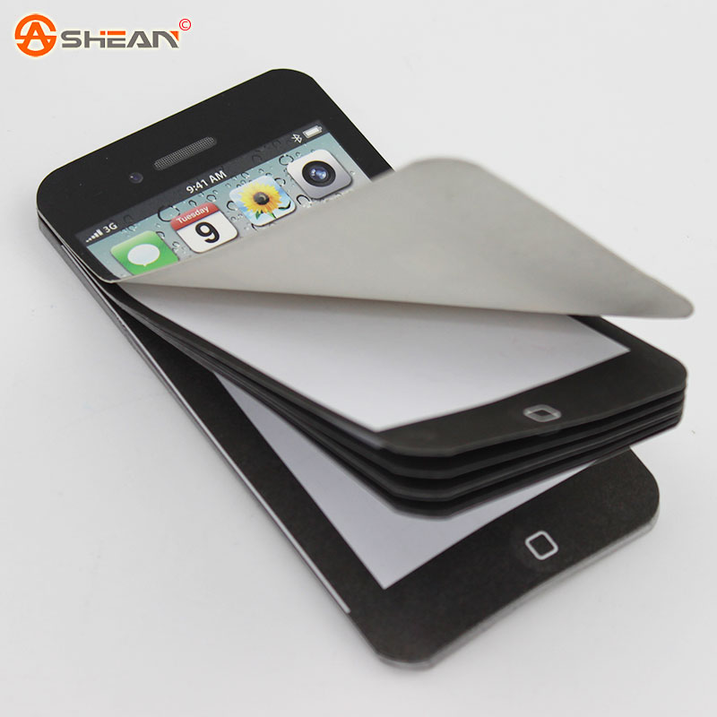 New Arrival Sticky Post It Note Paper Cell Phone Shaped Memo Pad Gift Office Supplies 1pcs(China (Mainland))