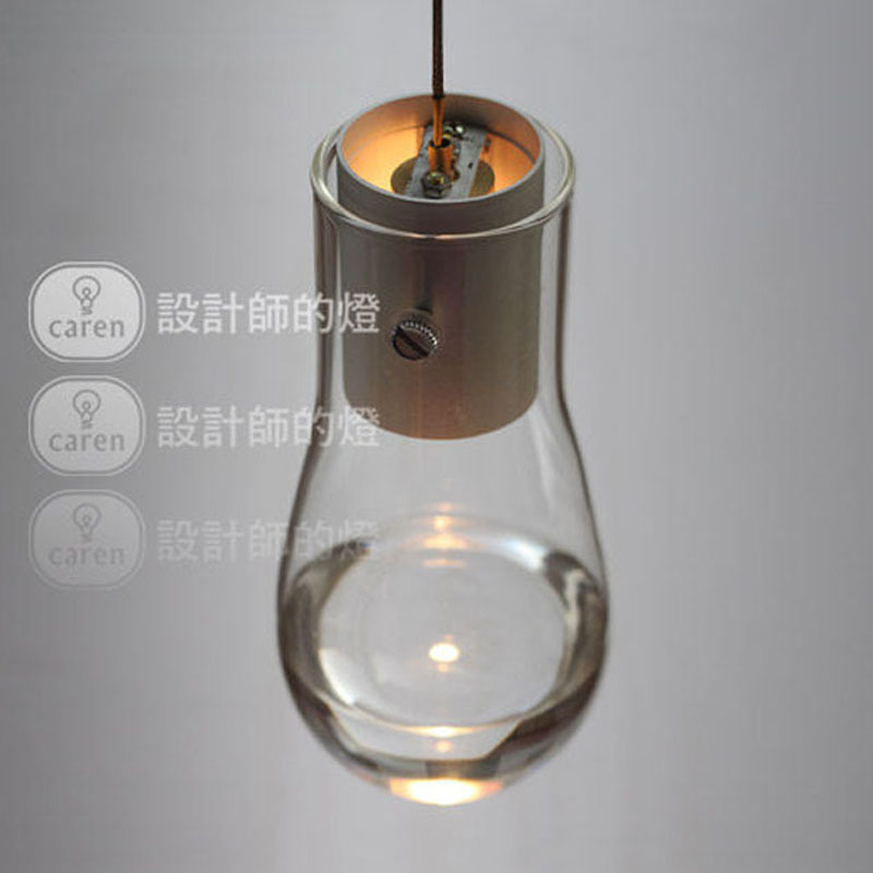 Modern Brlef European Glass Bulb Pendant Light restaurant bar aisle stairs art Anta single head pendant lamp(China (Mainland))