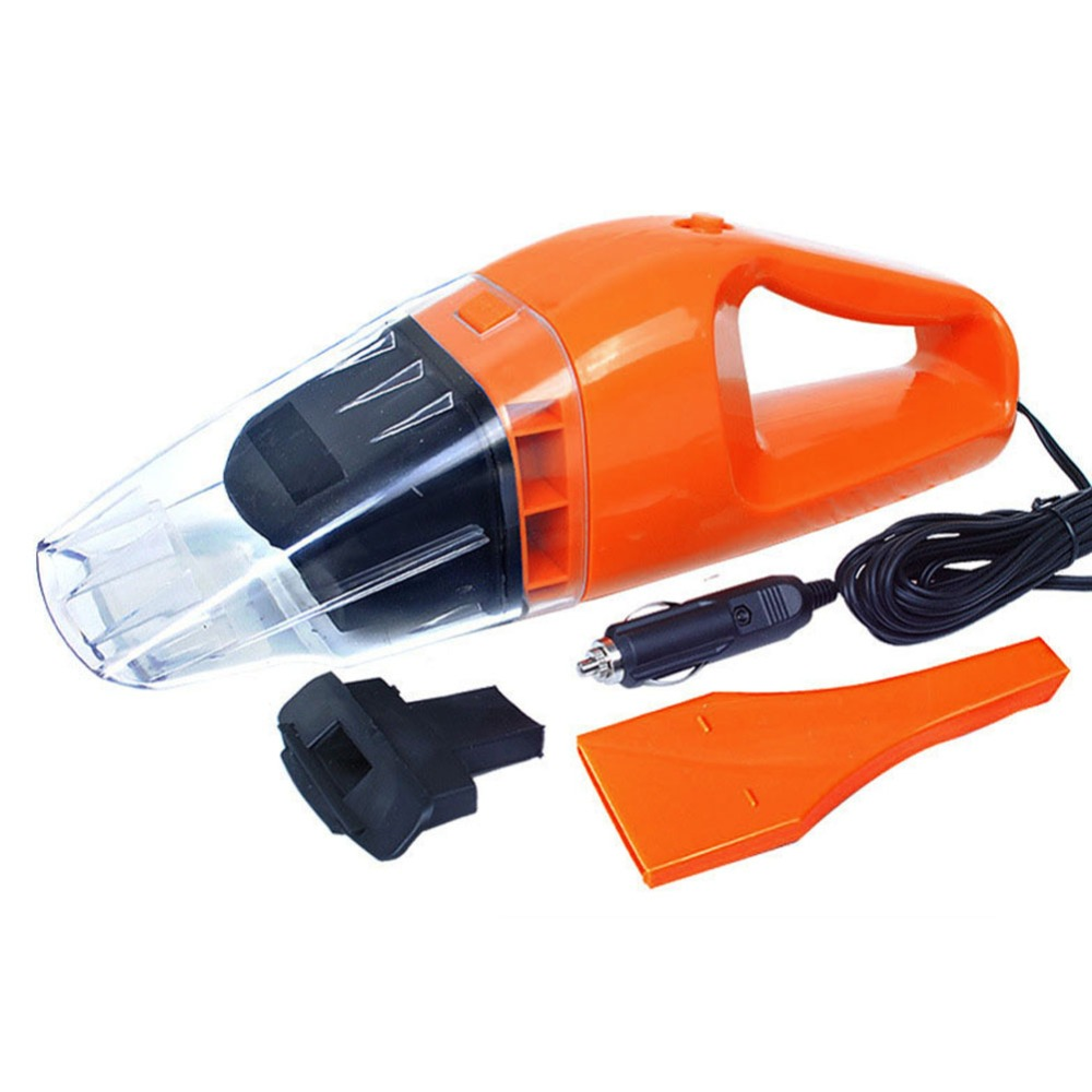 12V 100W Portable Car Vacuum Cleaner Wet and Dry Dual-use Super Suction Vacuum Cleaner Auto Orange(China (Mainland))