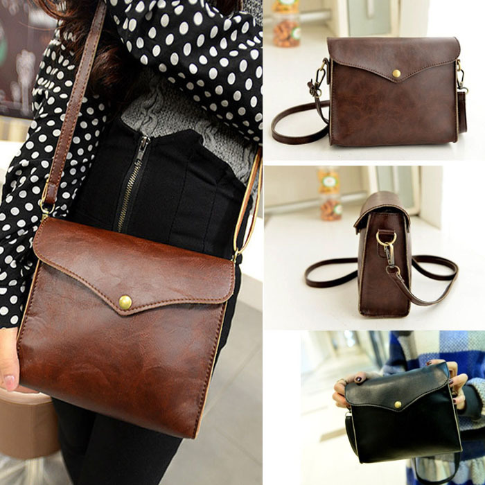 1PC Womens Leather Shoulder Bag Satchel Handbag Tote Hobo Messenger Freeshipping Kimisohand(China (Mainland))