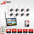 Wireless 8CH 12 LCD NVR Kit720P HD 30 IR Outdoor IR Night Vision Security IP Camera