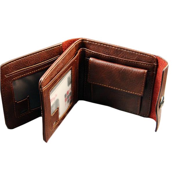 Fashion Vintage Short Men Genuine Leather Wallets Solid Hasp Change Purse Famous Brand Men Billeteras Card Holder Men Wallet