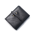 Korean Style Fashion Simple Buckle Wallet Women 2016 New Trendy Short Purse Ladies Solid Color Chic