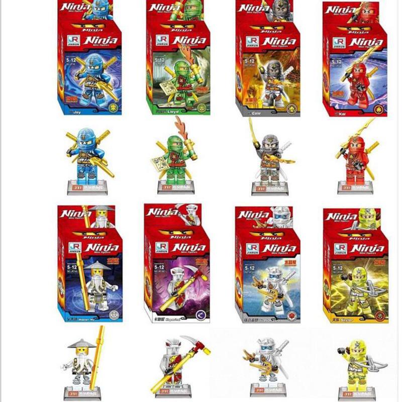 Hot 8pcs a Set Building Blocks Transparent Crystal Phantom Ninja Man Aberdeen Designers Children's Gift Free Shipping x89(China (Mainland))