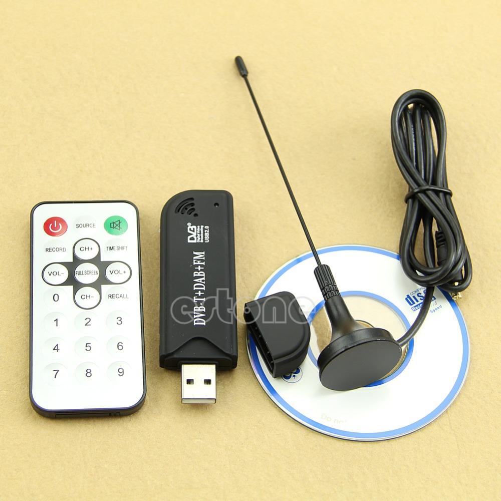 Free Shipping Hot! RTL2832U+R820T USB2.0 Digital DVB-T SDR+DAB+FM HDTV TV Tuner Receiver Stick(China (Mainland))