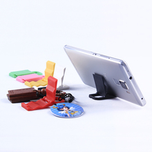 Random Color!Colored plastic mini phone stand Portable Adjustable holder For iPhone 4s 5s universal Foldable mobile phone holder