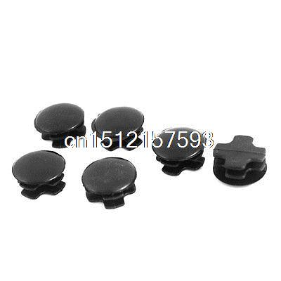 6 Pcs Chair Table Legs 22mm Dia Plastic Covers Round Ribbed Tube Inserts(China (Mainland))