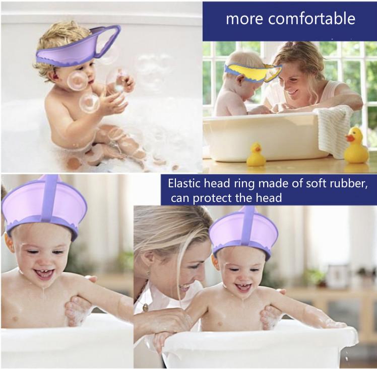 2017 Adjustable Children'S Bath Cap Baby Shampoo No More Tears ...