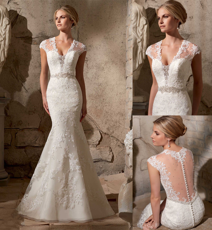 Hot sale sexy lace mermaid wedding dresses 2015 court for Mermaid wedding dresses on sale