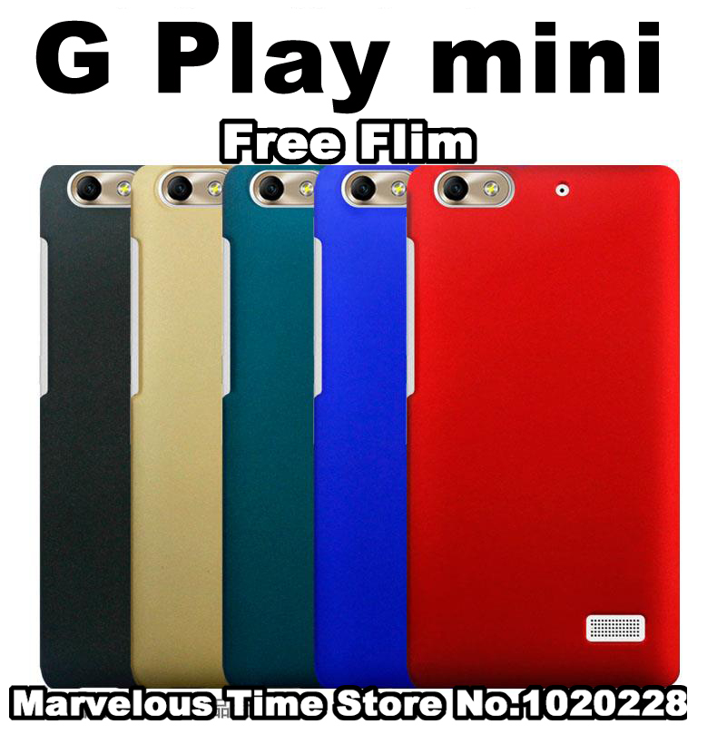 huawei g play mini case cover New hard plastic case for huawei g play mini plastic case cover Multi Colors PC phone shell+film(China (Mainland))