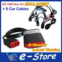 The latest version VCI DS150 TCS CDP Pro plus with 2014 R2 keygen + 8 car cables DHL Free Shipping(China (Mainland))