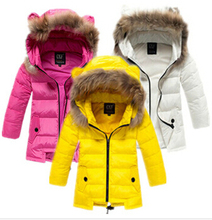 NEW hot  hight quality 2015 Children's down jacket and long sections warm down jacket girls winter coat & outweat coat(China (Mainland))