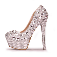 women shoes pumps handmade female noble diamond wedding shoes sexy fashion women's high heels Dress shoes 10 cm 12 cm 14 cm(China (Mainland))