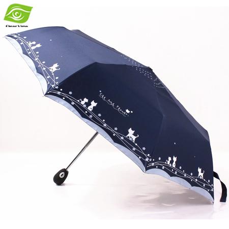 Multi Color Windproof Sun Rain Umbrella Women And Men Unisex Three Folding Automatic Umbrellas(China (Mainland))