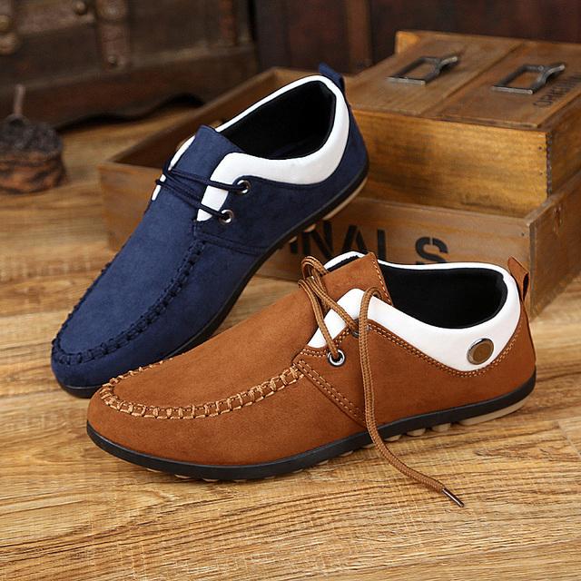 Осень Мокасины дышащие мужчины повседневная обувь модная обувь ленивый пекин хлопок ...