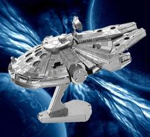 DIY 3D Metall Puzzle Modell Spielzeug Star Wars Für Kinder/Erwachsene Cartoon Robot X-wing R2-D2 RT-RT Modell(China (Mainland))